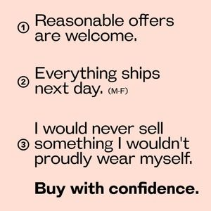 Other - Buy with confidence.